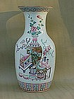Chinese export Famille rose porcelain vase 19th cent.