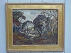 Francis Redewill California Impressionist landscape oil