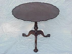 Irish Georgian Mahogany tilt top table   c.1790