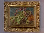 Flemish Still life of fruit and basket  oil P Themmen