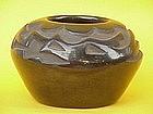 Santa Clara Pueblo Pottery Bowl Gwen Tafoya serpent