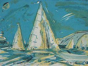 Wayne Thiebaud Coronado color Lithograph 1956 5/15 Rare