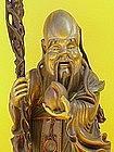 Chinese Carved figure Sage of Longevity Deity