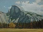 Yosemite Half Dome California impressionist  V. Seward