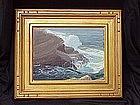 Carmel California impressionist seascape Clyde Scott