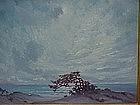 California impressionist oil Carmel Seasacpe F.M. Moore
