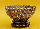Japanese Satsuma Bowl Dragons Demons Meiji period signd