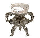Early 20C Chinese Silver Wine Cup