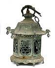 Old Japanese Bronze Pagoda Garden Lamp Lantern