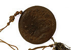 Late 19C Chinese Herb Medicine Carved Pendant Flower