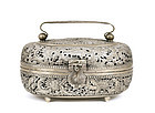 Early 20C Chinese Silver Dragon Hand Warmer