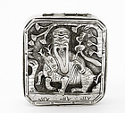 Early 20C Chinese Silver Shoulo Figurine Box Mk