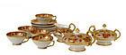 13 Old Japanese Nippon Gold Beaded Tea Set Teapot Mk