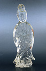 Chinese Peking Glass Quan Kwan Yin Buddha Figurine