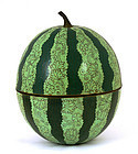 Old Chinese Water Melon Cloisonne Bowl Box