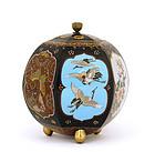 Meiji Japanese Cloisonne Cover Jar Crane