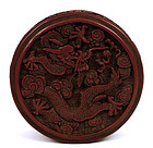 Early 20C Chinese Cinnabar Dragon Box
