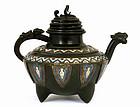 Japanese Champelve Cloisonne Teapot Beat Spouse