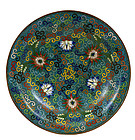 Late 19C Chinese Cloisonne Plate