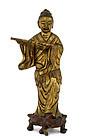 19C Chinese Gilt Bronze 8 Immortal Figurine