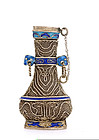 Chinese Silver Enamel Filigree Snuff Bottle Mk