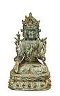 17C Chinese Bronze Buddha Quan Yin Figure