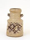 Japanese Shino Ware Pottery Ceramic Tea Jar