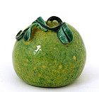 Early 20C Chinese Famille Rose Altar Fruit Melon