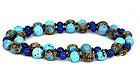 Chinese Enamel Turquoise Lapis Lazuli Bead Necklace Set