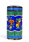 Chinese Silver Enamel Box Marked