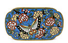 19C Chinese Gilt Cloisonne Belt Buckle Butterfly