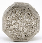 Chinese Silver Box Flower Mk