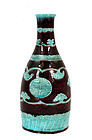Meiji Japanese Studio Violet Tokkuri  Sake Bottle