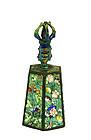 Early 20C Chinese Enamel Bell Flower Dorje Handle