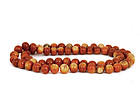 Amber Carved Beads Necklace