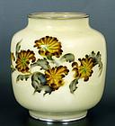 Old Japanese Cloisonne Shobido Vase Flower Mk