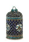 Early 20C Chinese Silver Enamel Reticulated Opium Box
