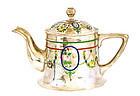 Early 20C Chinese Silver Enamel Teapot Beijing Marked