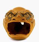Old Japanese Seed Tree Nut Oni Head Okimono Sg