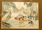 Late 19C Chinese Painting Figurine