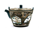 Old Japanese Kyoto Satsuma Teapot Sg