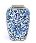Early 20C Chinese Blue & White Vase