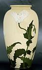 Old Japanese Satsuma Moriage Vase Flower
