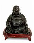 Chinese Cherry Amber Happy Buddha Figurine Figure