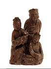 Early 20C Chinese Soapstone Figure Figurine Group