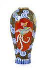 Old Japanese Koransha Dragon & Phoenix Vase Mk