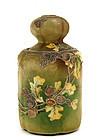Old Japanese Nippon Moriage Humidor Jar Chestnut