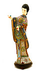 Chinese Cloisonne Lady Figure