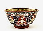 Old Chinese Export Benjarong Bowl Buddha