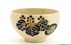 Old Japanese Gosu Satsuma Tea Cup Bowl Mk